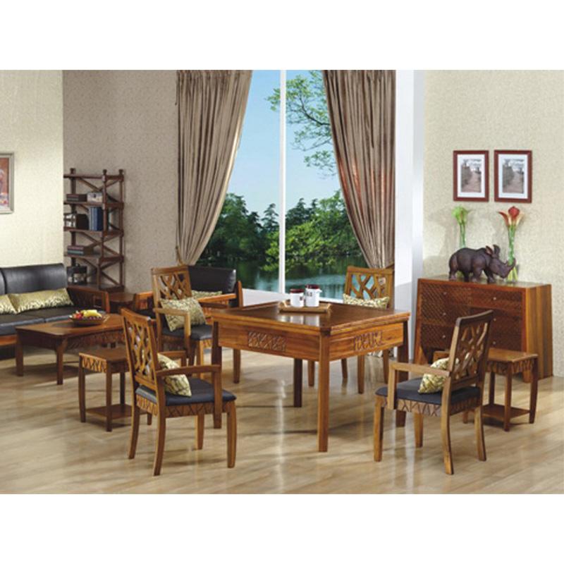 雀雅GB05实木麻将桌餐桌