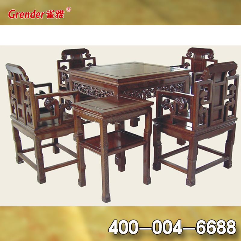 雀雅GC05实木麻将桌餐桌