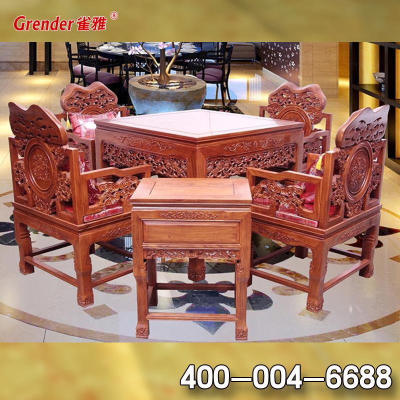 雀雅GC15实木麻将桌餐桌