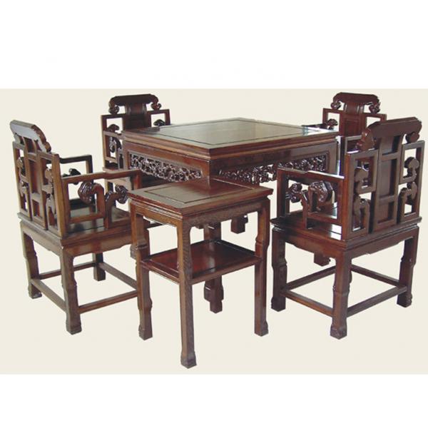 鸡翅木麻将机餐桌麻将桌