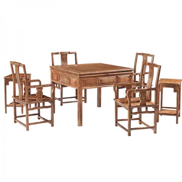 万事如意刺猬紫檀红木麻将机麻将桌