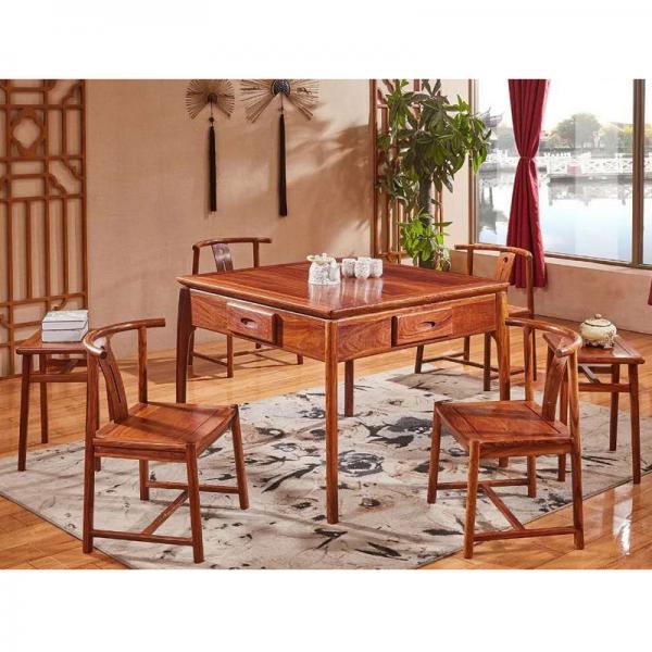 北欧尊荣中式实木麻将桌麻将机