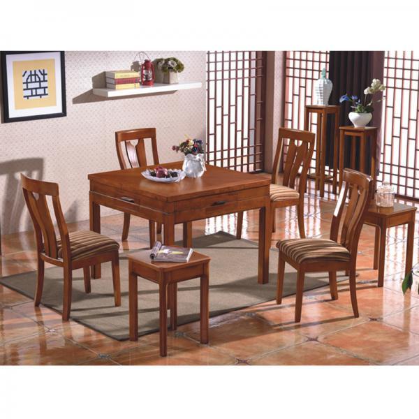 凯撒实木中式餐桌两用麻将机麻将桌