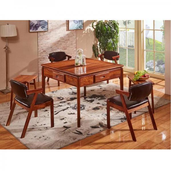 北欧名流实木餐桌两用麻将机麻将桌