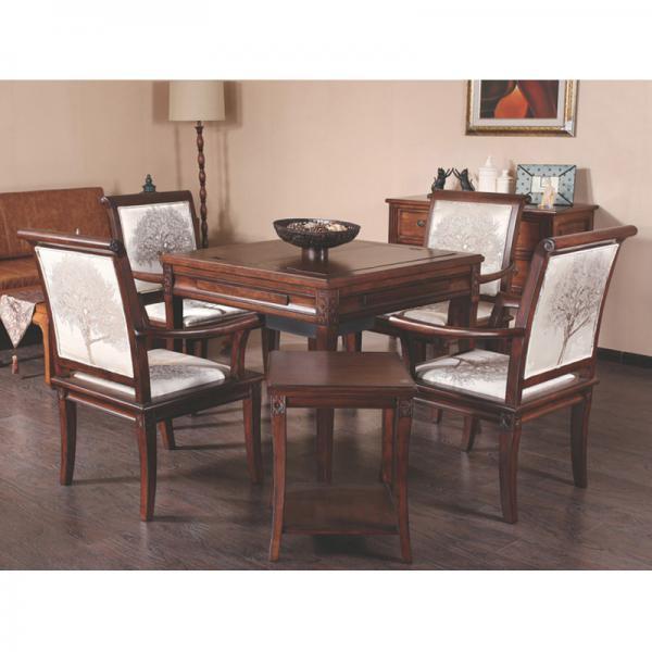 阿尔萨斯实木高端餐桌两用麻将桌麻将机