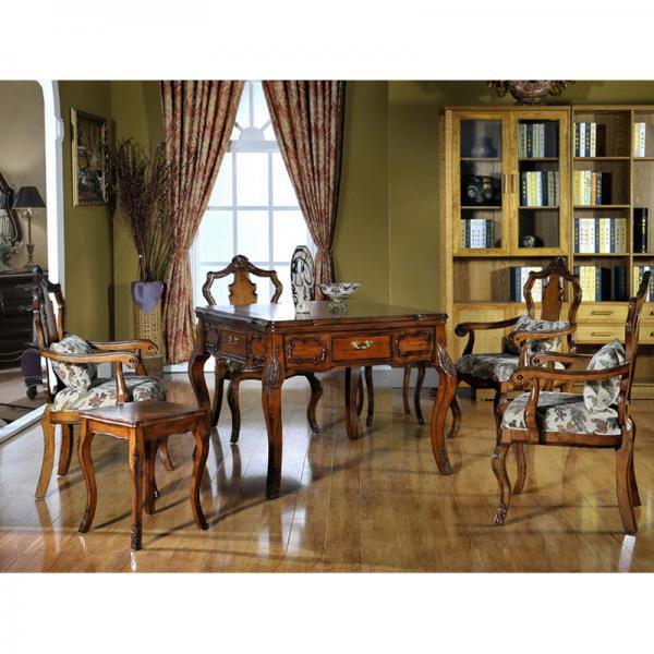摩洛哥实木美式茶楼麻将桌