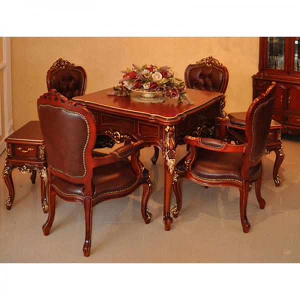 北京高档新乐可可牛皮椅子餐桌两用麻将桌