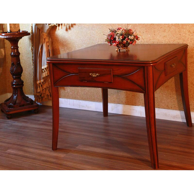 卡斯加实木单桌餐桌两用麻将桌